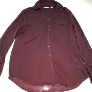 New York & Company Marron Blouse